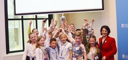 En de winnaar is... groep 8 van de Stadhouder Willem III school