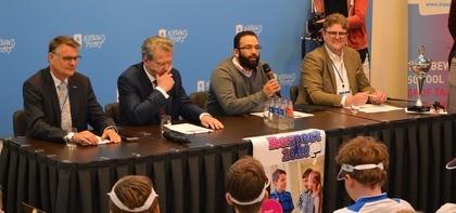 De jury v.l.n.r.: Jan Hofman, Roelof Bisschop, Jamal Mouhmouh, Wilfried Verboom.